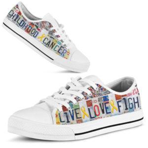 "childhood cancer live love fight license plates low top@ fightcancerpro childhod445d@low-top"" 184555"