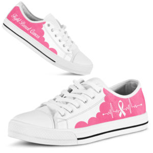 """BREAST CANCER CL LOW TOP WHITE PINK KD@ fightcancerpro breastcancerwhitepink852@low-top"""" 184015"""