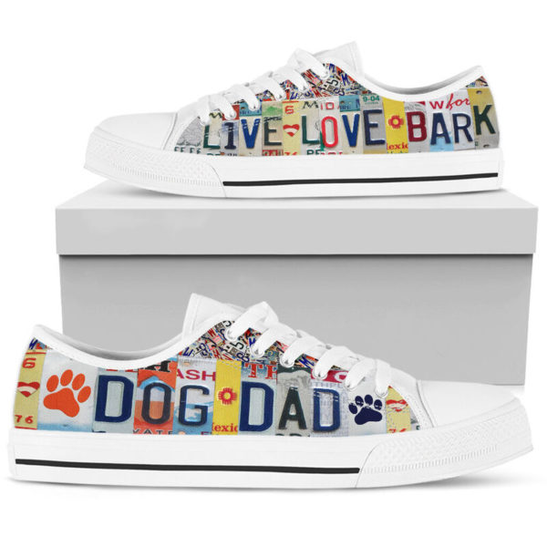"""DOG DAD LIVE LOVE license plates LOW TOP@ animalaholic DOG757@low-top"""" 182536"""