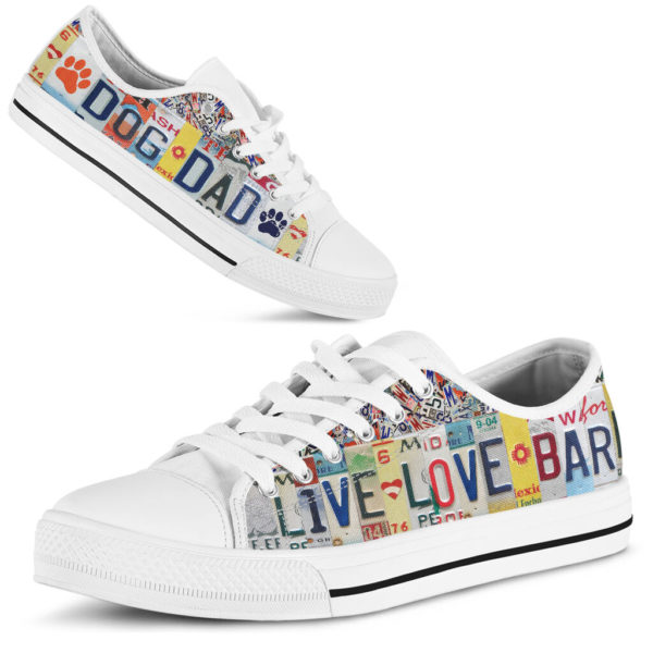 """DOG DAD LIVE LOVE license plates LOW TOP@ animalaholic DOG757@low-top"""" 182530"""