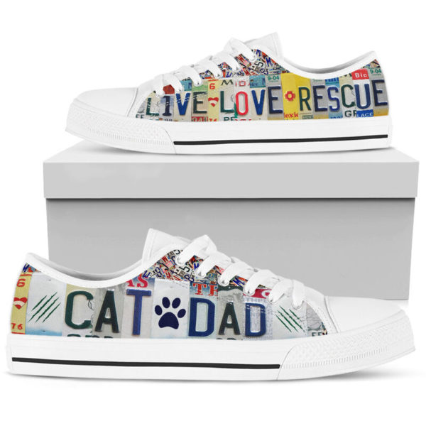 CAT DAD LIVE LOVE RESCUE license plates LOW TOP@ animalaholic CATSDF5@low-top 181231