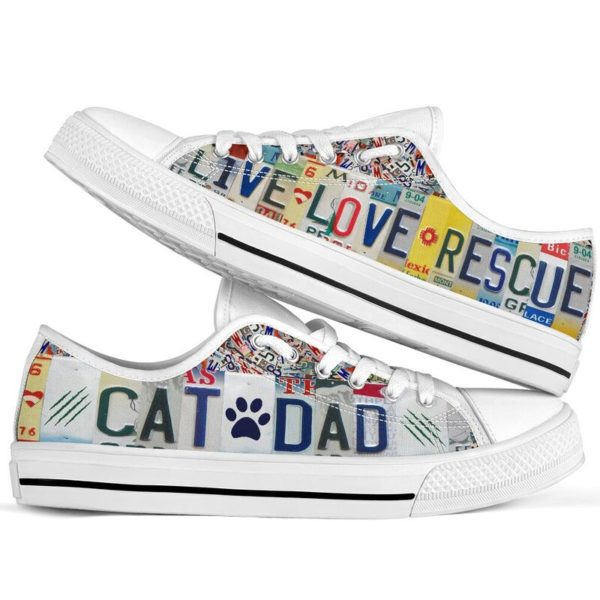 CAT DAD LIVE LOVE RESCUE license plates LOW TOP@ animalaholic CATSDF5@low-top 181227