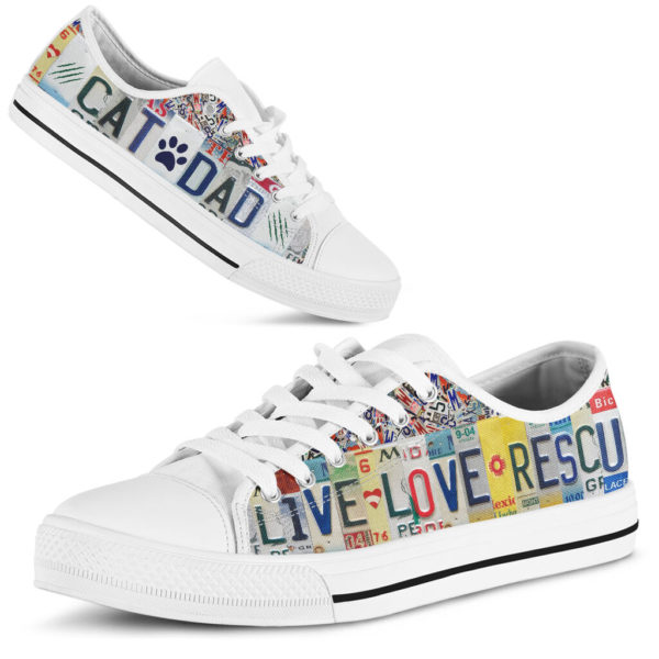 CAT DAD LIVE LOVE RESCUE license plates LOW TOP@ animalaholic CATSDF5@low-top 181225