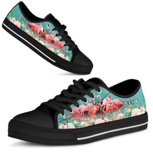 FLAMINGO BLACK SHOES@ zingpalm flamingo shoes2@low-top 177611