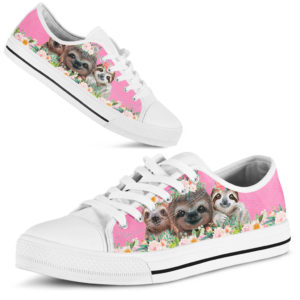 SLOTH PINK SHOES@ zingpalm sloth pink shoes@low-top 177206