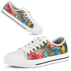 Parrot Shoes Shoes License Plate Shoes for Mens, Womens Tennis Custom Shoes, Custom Low Top