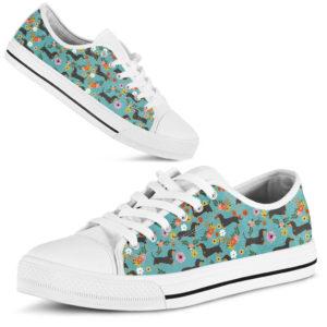 "Dachshund Flower Shoe@ shoppingmylife dafawwfv@low-top"" 174326"