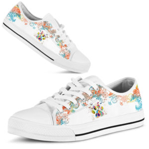 Dog Paw Watercolor - Low Top@ shoppingmylife utyiuy95@low-top 172661