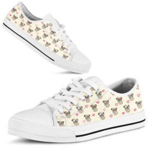Pug Heart Pattern - Low Top@ shoppingmylife 676ghh@low-top 169511