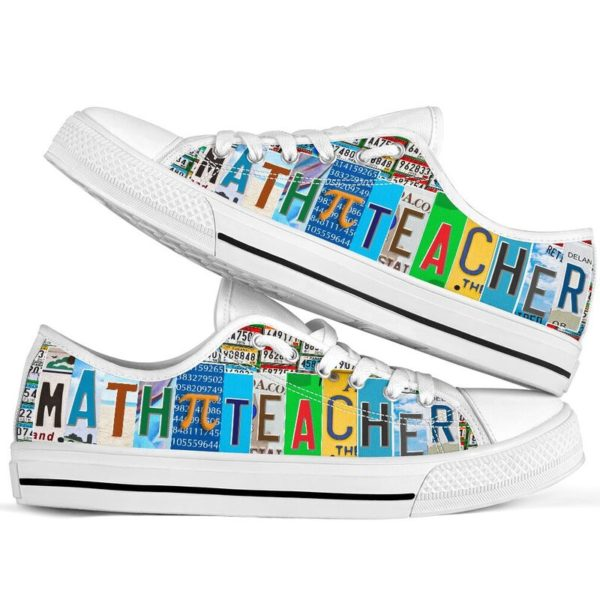 "Math Teacher@ rockinbee mathteacher pi 108@low-top"" 161810"