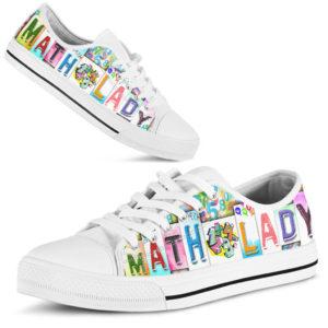 "Math Teacher@ rockinbee teacher lady 128@low-top"" 158254"
