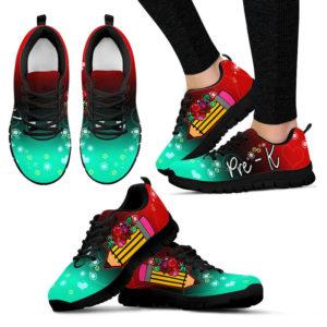 PRE-K PENCIL FLOWER RED BLACK TURQUOIES KD@ proudteaching pre kredblacktur04642@sneakers 150244