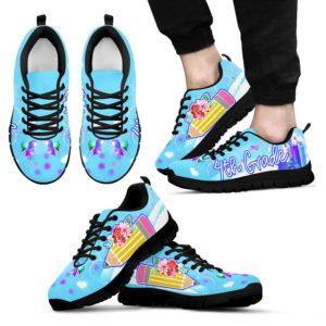 4TH GRADE PENCIL FLOWER BLUE KD@ proudteaching 4thgradepencilblue0557@sneakers 140996