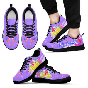 4TH GRADE PENCIL FLOWER PURPLE@ proudteaching 4thgradepenpurple0252@sneakers 135955