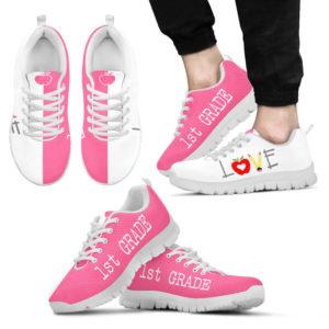 1ST GRADE TEACHER LOVE SHOES@ proudteaching 1stgradelove7e6@sneakers 130367
