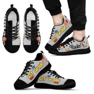 1ST GRADE ROCKS BLACK GRAY KD@ proudteaching 1stblackgray0521@sneakers 127847