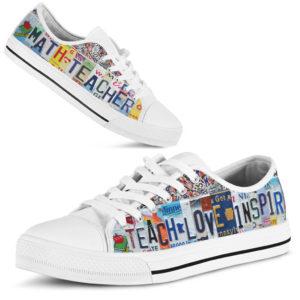 "MATH TEACHER license plates LOW TOP@ proudteaching MATH46@low-top"" 123741"
