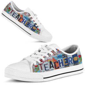 """TEACHER license plates LOW TOP@ proudteaching hyrewuyghtw@low-top"""" 120993"""