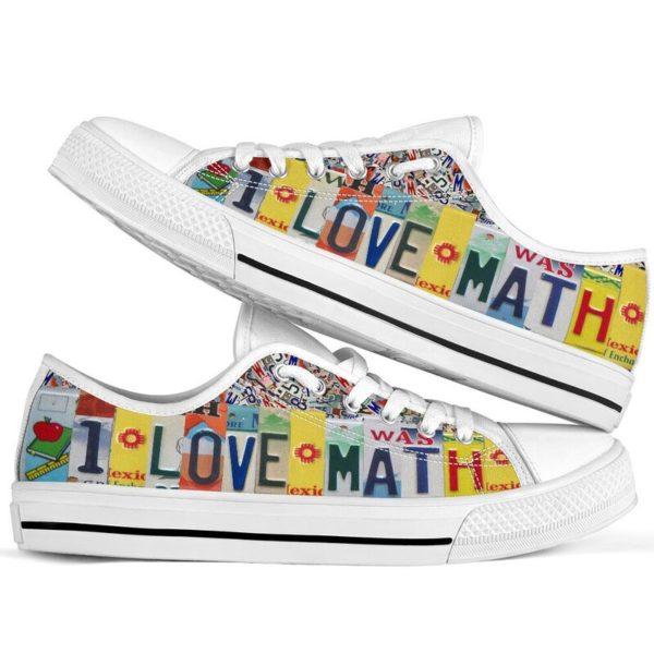"i love math license plates low top@ proudteaching 38698395kjgkfr@low-top"" 120365"