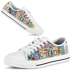 "music Teacher license plates low top@ proudteaching vjhauhtiu49@low-top"" 120138"