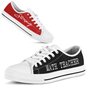 """math teacher strong red black lt@ proudteaching mathteacherstronglt633535@low-top"""" 115458"""