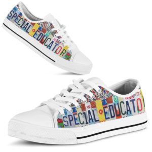 """SPECIAL EDUCATOR license plates LOW TOP@ proudteaching SPECIAL321@low-top"""" 111451"""
