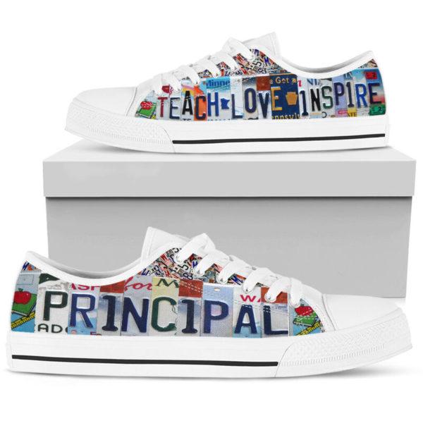 "principal teach love inspire license plates low top@ proudteaching Principal152@low-top"" 110105"