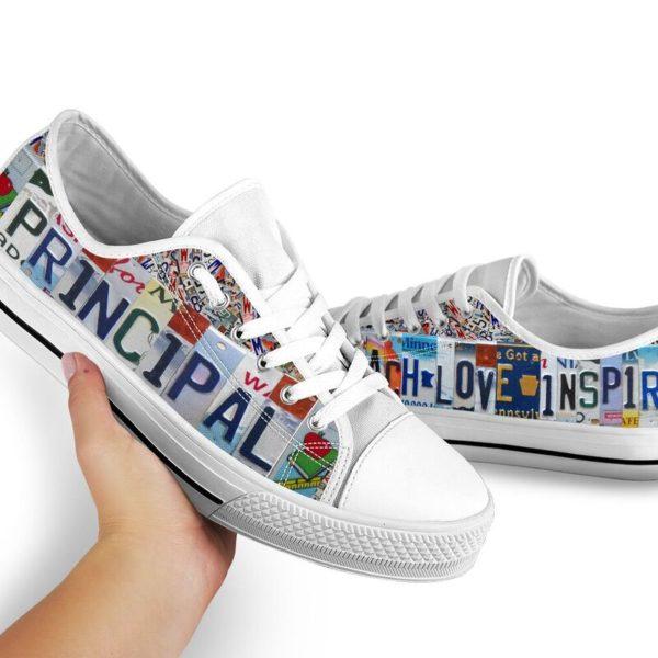 "principal teach love inspire license plates low top@ proudteaching Principal152@low-top"" 110102"