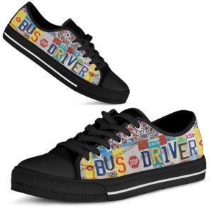 "BUS DRIVER license plates LOW TOP black@ proudteaching BUSb44fb514P@low-top"" 105097"