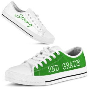 "2nd grade green white lt kd@ proudteaching 2ndgradeltgreen335353@low-top"" 101002"