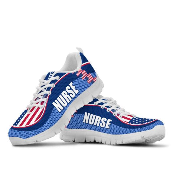 NURSE AMERICA FLAG CL SHOES@ proudnursing nurseusacl0654@sneakers 90046