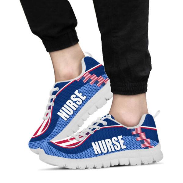 NURSE AMERICA FLAG CL SHOES@ proudnursing nurseusacl0654@sneakers 90043
