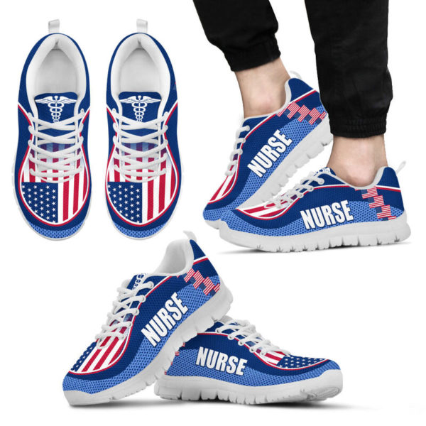 NURSE AMERICA FLAG CL SHOES@ proudnursing nurseusacl0654@sneakers 90042