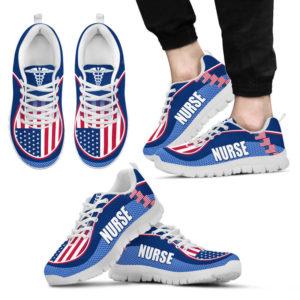 NURSE AMERICA FLAG CL SHOES@ proudnursing nurseusacl0654@sneakers 90041