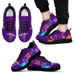 Love nurse- purple@ proudnursing LovenursepurpleF45HS@sneakers 89726