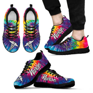 nurse-Tie Dye@ proudnursing nursekmkdms112@sneakers 88343