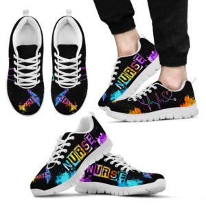 NURSE HEARTBEAT WHITE SOLES@ proudnursing nursehjkahjgku@sneakers 87524