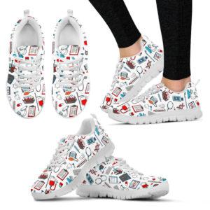 NURSE PATTERN WHITE@ proudnursing NURSEPATTERNWHITE@sneakers 83996