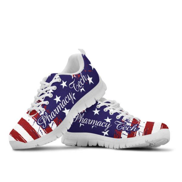 Pharmacy Tech American@ proudnursing PharmacyTechflag@sneakers 80158
