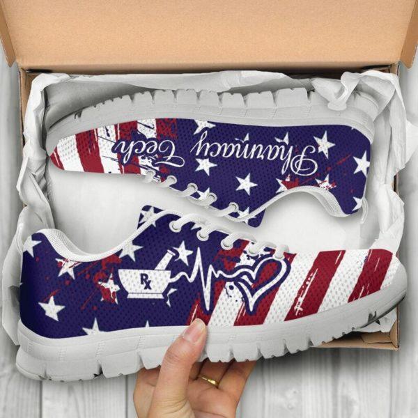 Pharmacy Tech American@ proudnursing PharmacyTechflag@sneakers 80157