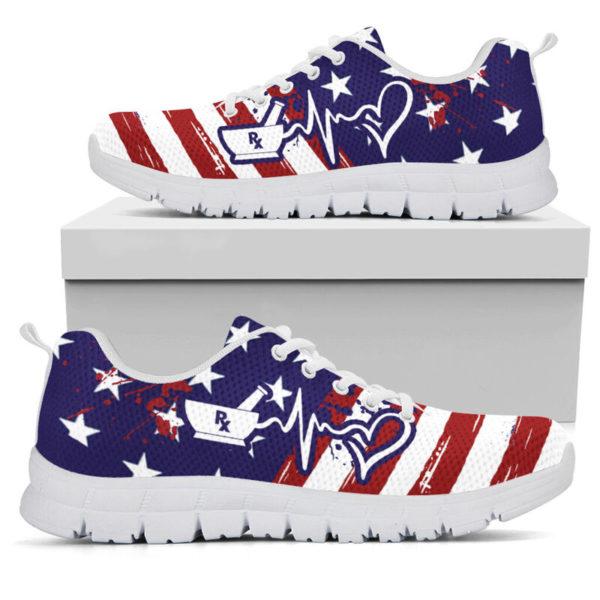 Pharmacy Tech American@ proudnursing PharmacyTechflag@sneakers 80156