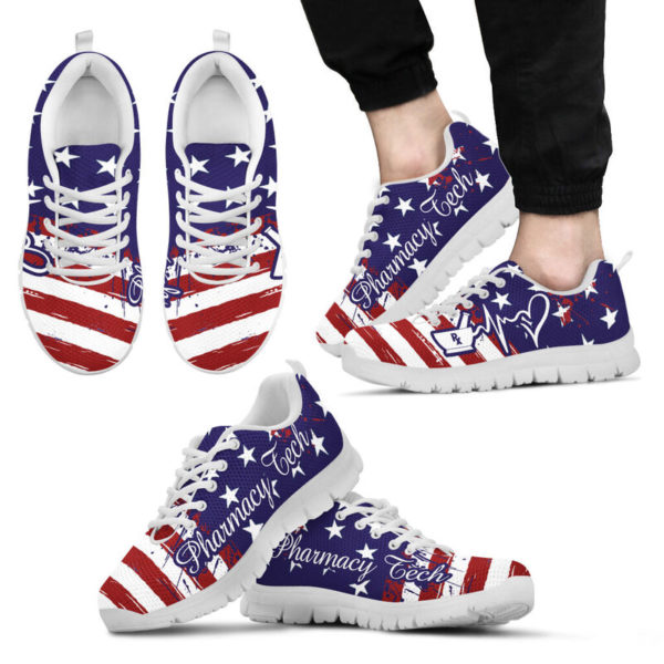 Pharmacy Tech American@ proudnursing PharmacyTechflag@sneakers 80154