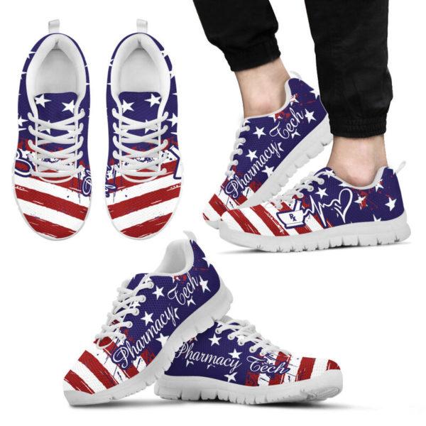 Pharmacy Tech American@ proudnursing PharmacyTechflag@sneakers 80153