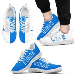 NURSE- LOVE BLUE WHITE@ proudnursing NURSELOVEBLUEWHITE654654DGD@sneakers 77697