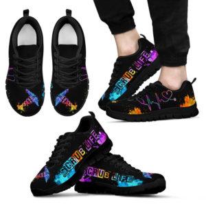 SCRUB LIFE ART HEARTBEAT@ proudnursing shujsd4545@sneakers 72599