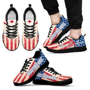 REGISTERED NURSE USA FLAG@ proudnursing REGISTEREDNURSE545DCB@sneakers 71339