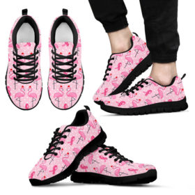 BREAST CANCER FLAMINGO SHOES Sneakers, Running Shoes, Shoes For Women, Shoes For Men, Custom Shoes, Low Top Shoes, Customized Sneaker, Mens, Womens, K