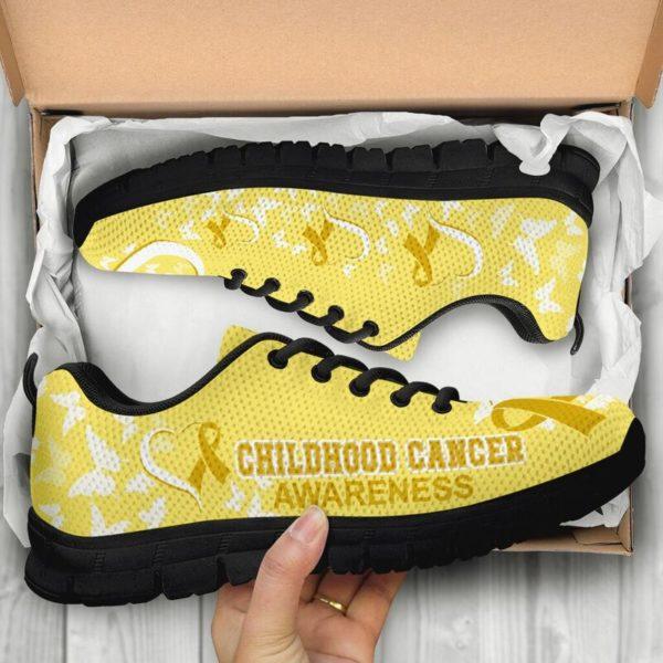 Childhood Cancer AWARENESS HEART RIBBON@ fightcancerpro Childhoodb12dsb2@sneakers 62082