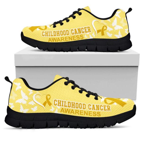 Childhood Cancer AWARENESS HEART RIBBON@ fightcancerpro Childhoodb12dsb2@sneakers 62081