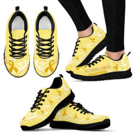 Childhood Cancer AWARENESS HEART RIBBON Sneakers, Running Shoes, Shoes For Women, Shoes For Men, Custom Shoes, Low Top Shoes, Customized Sneaker, Mens